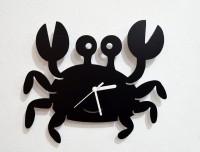 Blacksmith Cartoon Crab Analog Wall Clock (Black)
