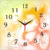 Go Hooked Gaesha Print Analog Wall Clock Multicolor