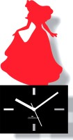 Zeeshaan Analog Wall Clock Red, Black, With Glass