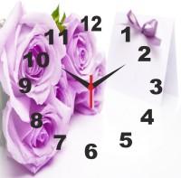 Go Hooked Designer Floral Print Analog Wall Clock Multicolor