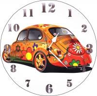 Indigo Creatives Designer Wall Beetle Car Motiff Watch Wall Clock Wall Clock (Multicolor)