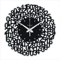 Random Web World - Numeric (Black) Analog Wall Clock Black