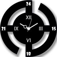 Basement Bazaar Small Abstract Design Analog Wall Clock (Black)