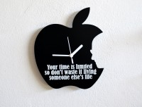 Blacksmith Time Is Limited Analog Wall Clock Black