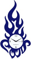 Blacksmith Modern Flame Deep Blue Analog Wall Clock Dark Blue