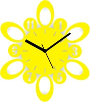 Zeeshaan Atomic Numbers Yellow Analog Wall Clock Yellow