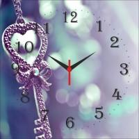 Go Hooked Key To Heart Print Analog Wall Clock Multicolor