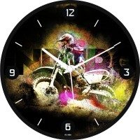 Regent Detailed 3d Bike Analog 31 Cm Dia Wall Clock Black