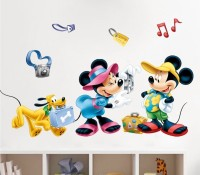 Icable Mickey Mouse Wall Stickers Kids Baby Nursery Room Home Decor (40 Cm X Cm 60, Multi)