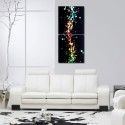 999Store Multiple Frames Printed Drops At Glass Wall Art Painting -2 Frames (76x25 Cm) - Multicolor