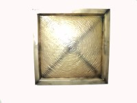 Soi Emobossed Metal Wall DéCor-Golden (Golden)