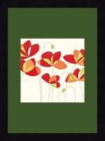 ART4U Poppy Field Square I - Framed Print 16 Inch X 22 Inch (Multicolor)