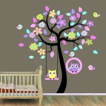 Asmi Collection Wall Decorations Asmi Collection Swinging Owl Wall Stickers