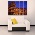 999Store Multiple Frames Printed Colosseum Italy Like Modern Wall Art Painting - 5 Frames (148 X 76 Cms) - Multicolor