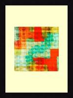 ART4U Teal And Orange I - Framed Print 16 Inch X 22 Inch (Multicolor)