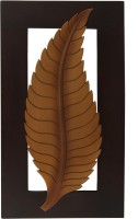 Craft Art India Handmade Beautiful Wooden Wall Hanging / Mounting Décor Leaf Wall Art Plaque Scenery (Multicolor)