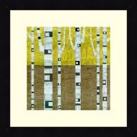 ART4U Fall Birches - Framed Print 16 Inch X 16 Inch (Multicolor)