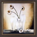 WENS White Flower Relaxing Painting - White