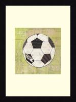 ART4U Play Ball III - Framed Print 16 Inch X 22 Inch (Multicolor)