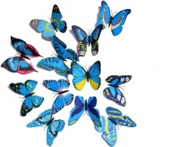 ADMI Removable 12 Pcs 3D Butterfly Wall Stickers - Blue (cm 13, Blue)