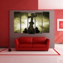 999Store Multiple Frames Printed Cross Like Modern Wall Art Painting - 5 Frames (148 X 76 Cms) - Multicolor