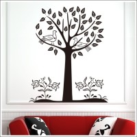 Oren Empower Black Tree Large Wall Sticker (115 Cm X Cm 92, Black)