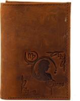 99cells Tri Fold Zodiac Virgo Wallet - Brown