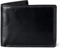 Peter England Men Black Artificial Leather Wallet 5 Card Slots