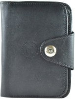 Modish Men, Women Casual Black Artificial Leather Wallet 8 Card Slots