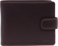 Elan Men Formal Brown Genuine Leather Wallet 3 Card Slots