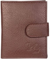 Tady Italio Men Brown Artificial Leather Card Holder 6 Card Slots