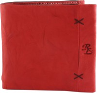 Walletsnbags Men Red Genuine Leather Wallet 10 Card Slots
