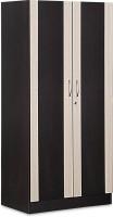 Debono Dreamy Two Door Wardrobe In Wenge & Cross Line By Debono Engineered Wood Free Standing Wardrobe (Finish Color - Wenge & Cross Line, 2 Door )