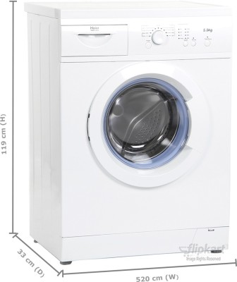 Haier 5.5 kg Fully Automatic Front Load Washing Machine (HW55-1010)