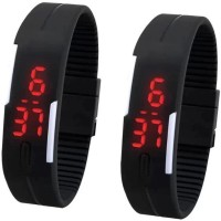RK Black LED Watch Combo Digital Watch  - For Boys, Girls, Men, Women