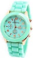 Geneva Mint Green Analog Watch  - For Women