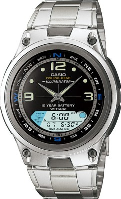 Casio Youth Analog Digital Watch   For Men Silver available at Flipkart for Rs.2655