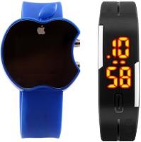 Xeno Apple LED Blue Black Touch Unisex Digital Watch  - For Boys, Men, Girls, Women
