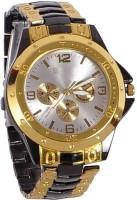 Shoppingekart Rosra A81010 Black & Golden Analog Watch  - For Men, Boys