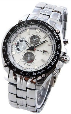Curren CUR-02 Metal Chain Analog Watch  - For Men