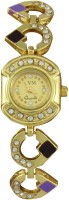 SVM Yellow-0072 Golden Chain Analog Watch  - For Women