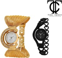 TRUE COLORS DISCOUNT COMBO OFFER GOLD & BLACK FANCY GIFT FOR SPECIAL ONE Analog Watch  - For Girls, Couple, Women