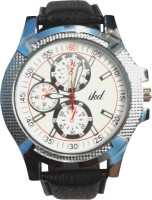Ikd Black Leather Strap Fashion Analog Watch  - For Men