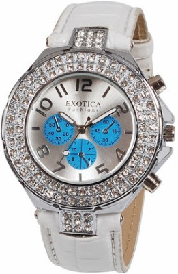 Exotica Fashions EF N 07 White Blue Analog Watch    For Women available at Flipkart for Rs.799