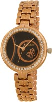 Gesture Black Butterfly Rose Gold Elegant Analog Watch  - For Women
