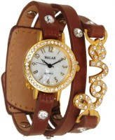 Rodec Walar Fine Brown Love Analog Watch  - For Girls, Women