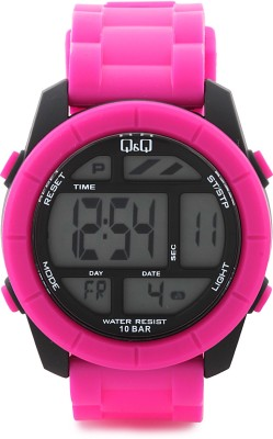Q&Q Digital Watch   For Men Pink available at Flipkart for Rs.595
