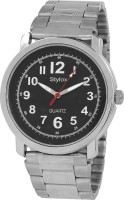 Stylox WH-STX211 Black Dial Chain (STX211) Analog Watch  - For Men