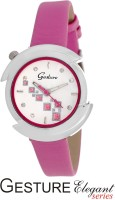 Gesture 8185-SL-PK Elegant Analog Watch  - For Women