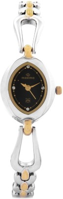 Maxima Gold Analog Watch - For Women Silver, Gold